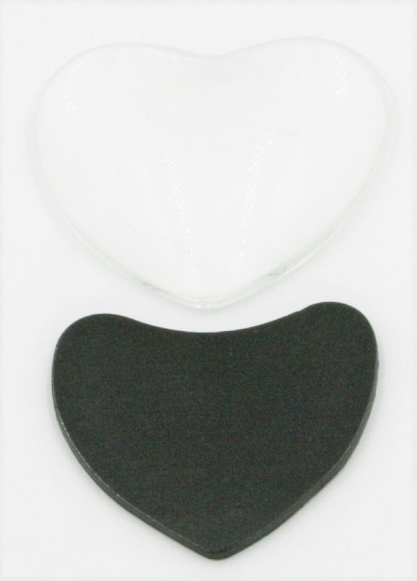 50mm*50mm Love heart magnet cabouchon
